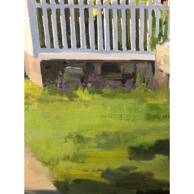 Traditional Sunny Afternoon Original Painting by Line Tutwiler For Sale In Philadelphia - Image 6 of 11