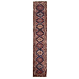 "Antique Malayer Runner Rug, 2'7"" X 14'5"" For Sale"