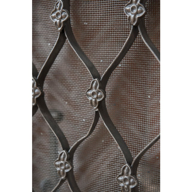 Gothic 1940s Renaissance Iron Fireplace Grill For Sale - Image 3 of 4