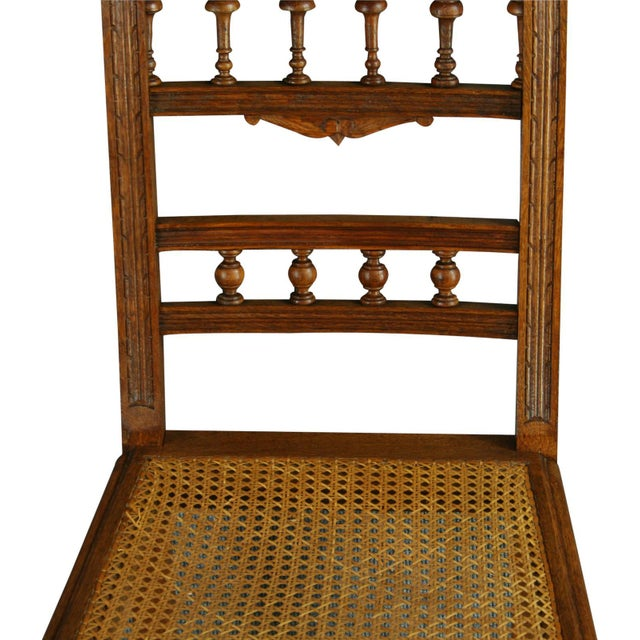 Antique French Renaissance Henry II Oak Chairs - 8 - Image 7 of 8