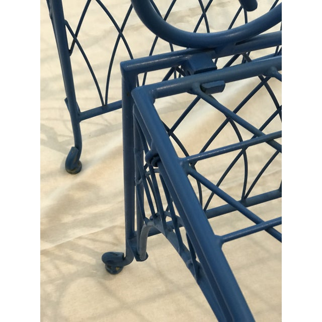 Iron Vintage Italian Iron Folding Chairs - A Pair For Sale - Image 7 of 9