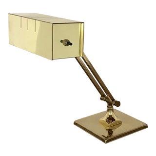 Vintage Brass Banker's Lamp