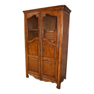 Vintage Oak Country French Style Chifferobe