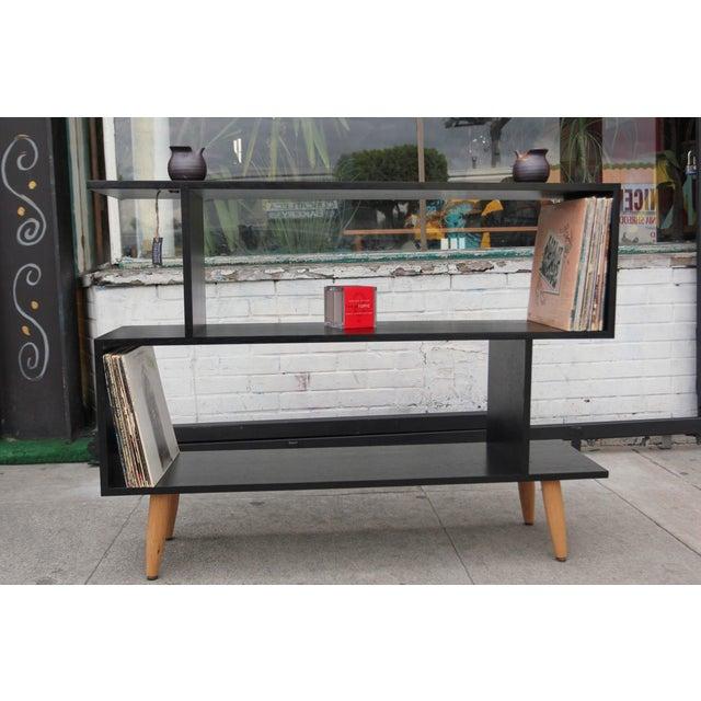 Not Yet Made - Made To Order Mid-Century Modern Ebonized Oak Zig-Zag Bookcase For Sale - Image 5 of 13