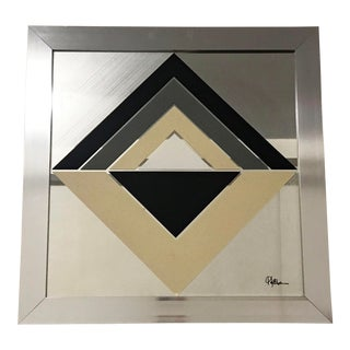 Mid Century Modern Geometric Abstract Greg Copeland Mirror For Sale