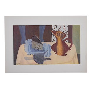 Vintage Mid-Century Braque Still Life Lithograph For Sale