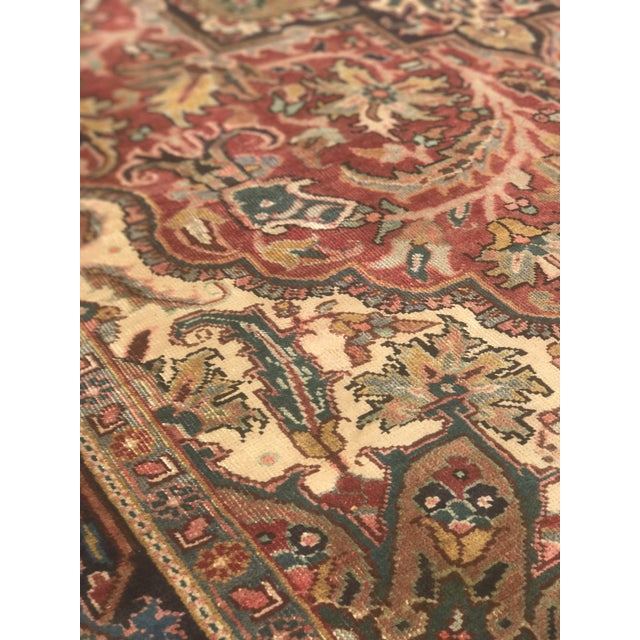 """Thick & Hearty Vintage Persian Ahar Area Rug - 7'3"""" x 10'5"""" - Image 9 of 11"""