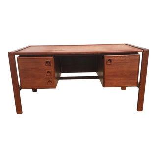 Mid-Century Modern Danish Teak Desk For Sale