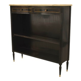 French Directoire Style Ebonized Bookcase For Sale