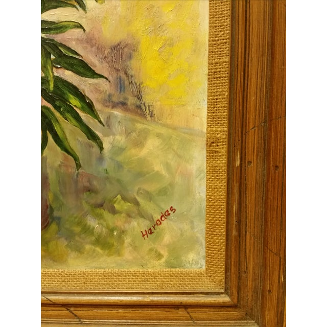 Mid-Century Oil Still Life Painting - Image 4 of 7