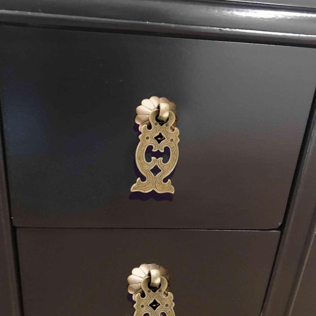 Black 1960s Hollywood Regency Chinoiserie Chest by Kent Coffey For Sale - Image 8 of 10