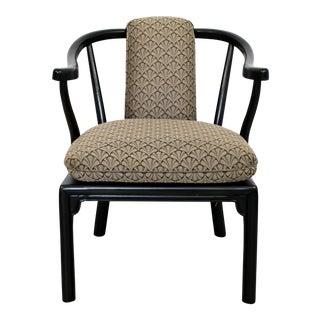 Mid Century Modern Custom Kraft & Sons Asian Style Lounge Armchair 1960s For Sale