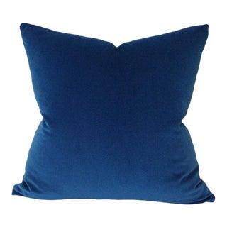 """Marine Blue Velvet Pillow Cover 17""""sq"""