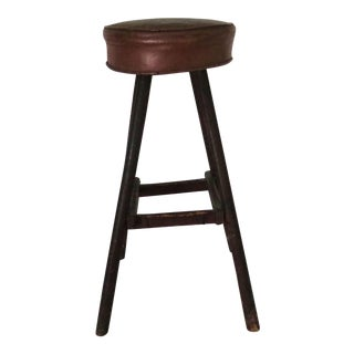 Vintage Brown Cobbler's Stool For Sale