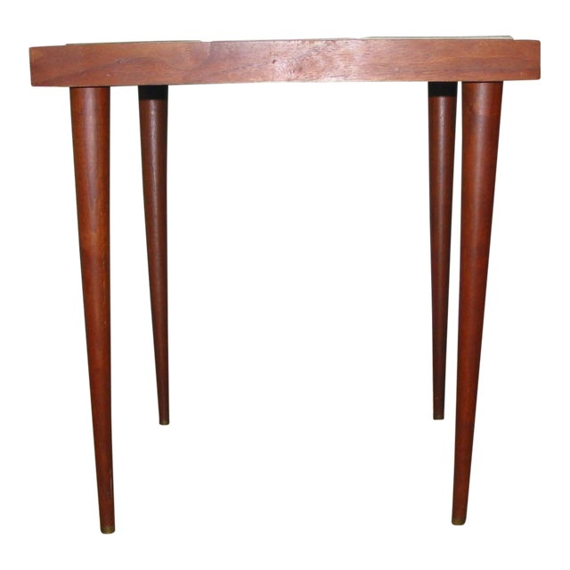 Martz Style Ceramic Top Side Table - Image 1 of 6