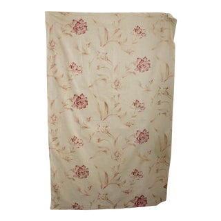 Vintage French Faded Floral ~ Gorgeous Large Scale Design ~ Cotton Pink Flowers For Sale