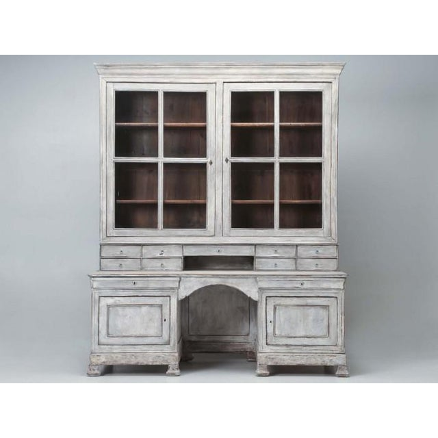 Antique French Bookcase and Desk For Sale - Image 13 of 13