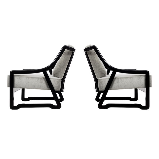Pair of Paul Laszlo Attributed Lounge Chairs For Sale