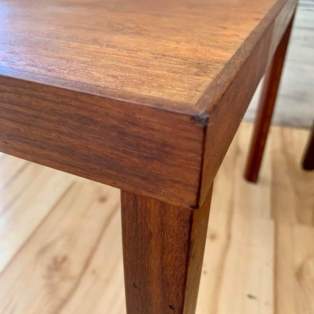Brown 1960s Danish Modern Hans Olsen Teak Side Tables - a Pair For Sale - Image 8 of 11