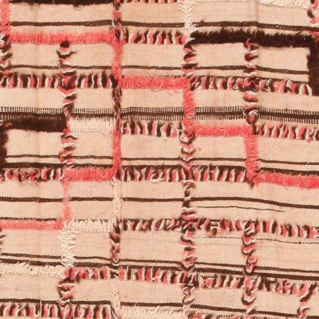 Vintage Moroccan Flat-Weave Kilim Rug - 5′3″ × 14′10″ For Sale - Image 4 of 7