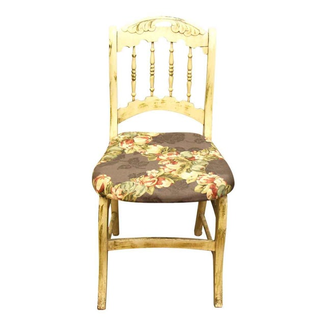 Pair of Wooden Chairs With Floral Seat - Image 7 of 10