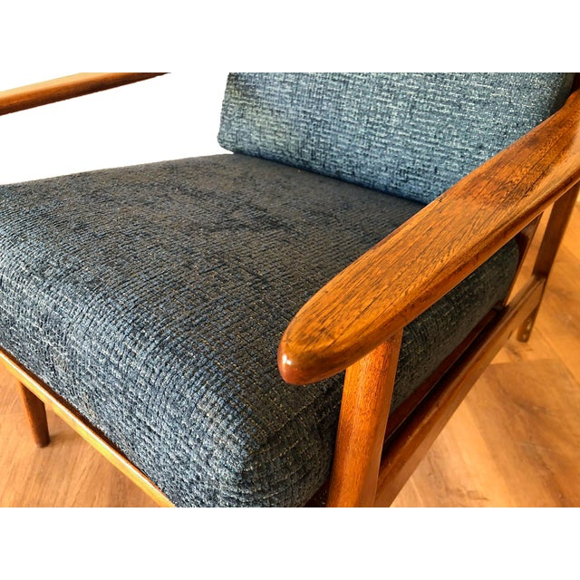 1960s Mid-Century Modern Walnut Arm Chair For Sale - Image 5 of 13