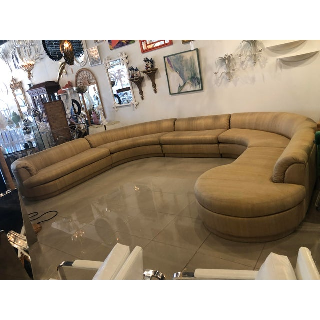Vintage 1970's Mid Century Modern Curved Sectional Sofa - 5 Pieces For Sale - Image 12 of 12