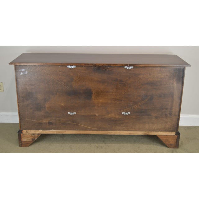 Brown Statton Solid Cherry Long Dresser With Mirror For Sale - Image 8 of 13