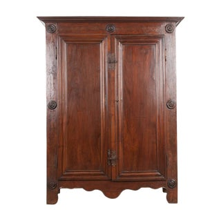 French Late 18th Century Louis XIII-Style Oak Armoire For Sale
