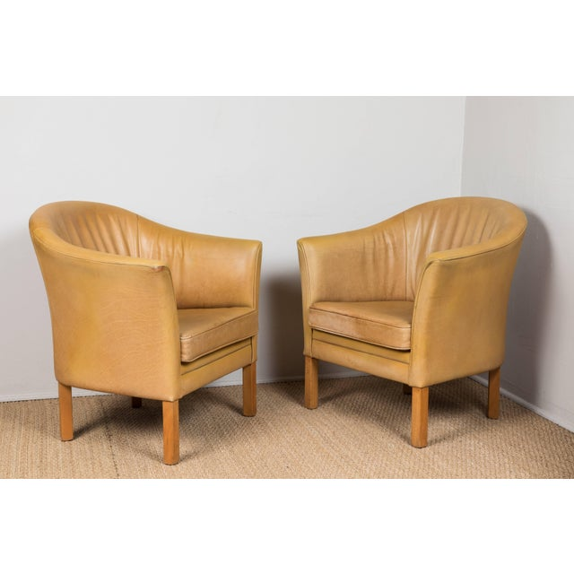 Vintage Leather Occasional Chairs (Pair Available) For Sale - Image 4 of 11