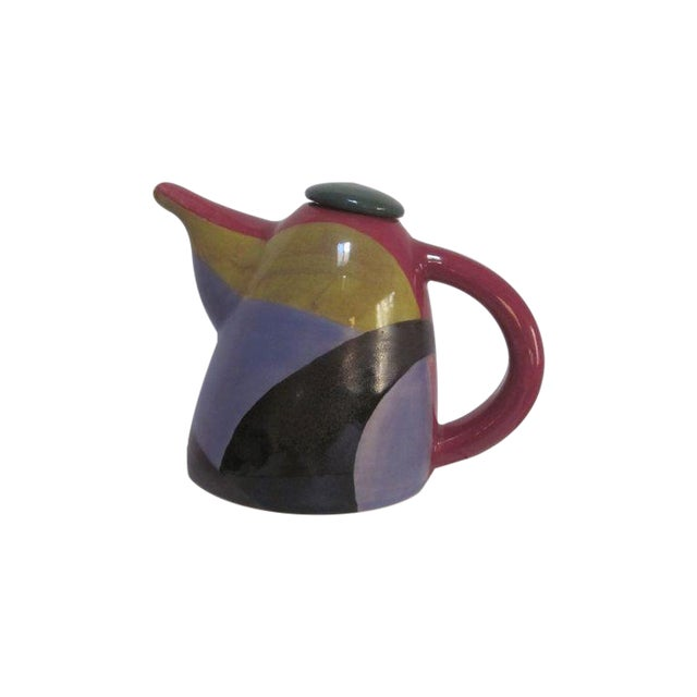Signed Chris Simoncelli Modernist Studio Teapot - Image 1 of 3