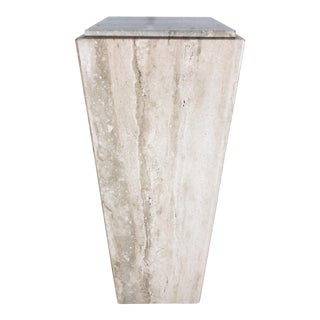 1970s Mid-Century Modern Italian Travertine Pedestal Table For Sale