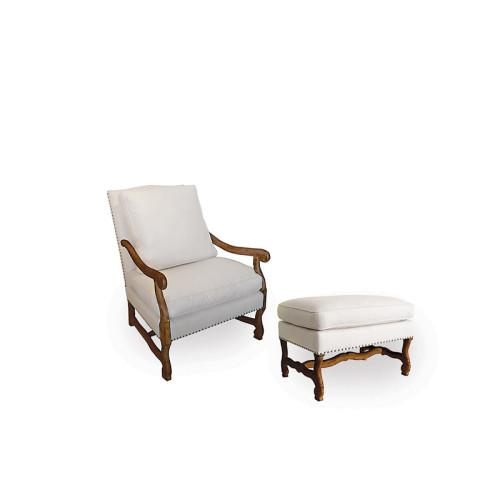 Mutton Bone Lounge Chair and Ottoman - Image 9 of 9