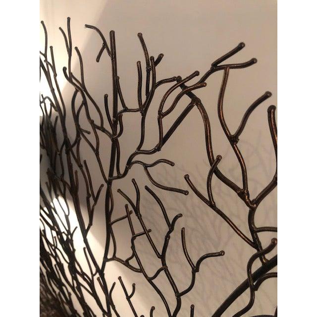 Modern Black Metal Coral Decor For Sale - Image 3 of 5