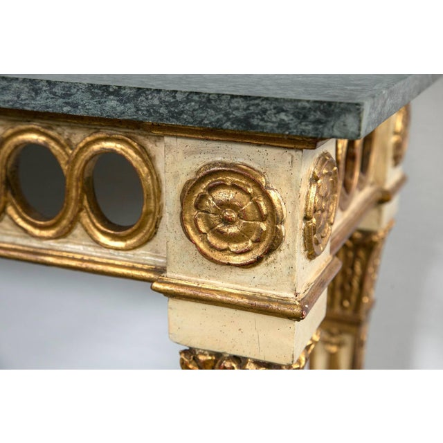 Italian Paint Decorated Marble-Top Console For Sale - Image 5 of 6