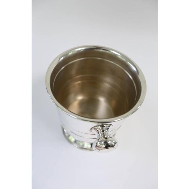 Traditional Petite Silver Plated Champagne Bucket For Sale - Image 3 of 5