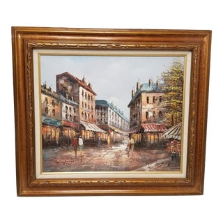 Impressionist Oil on Canvas Painting by Henry Rogers For Sale