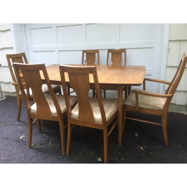 Kent Coffey Perspecta Series Dining Table & 6 Chairs Set - Image 3 of 11