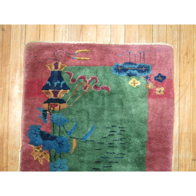 Chinese Art Deco Rug, 2'1'' x 3'10'' For Sale - Image 4 of 8
