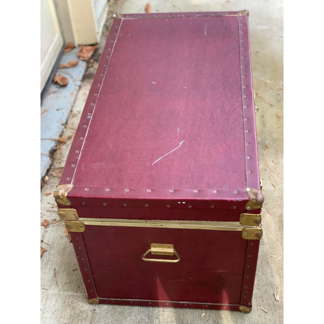 Vintage wood trunk, great for games or blankets - extra storage. Made in the 1980s.