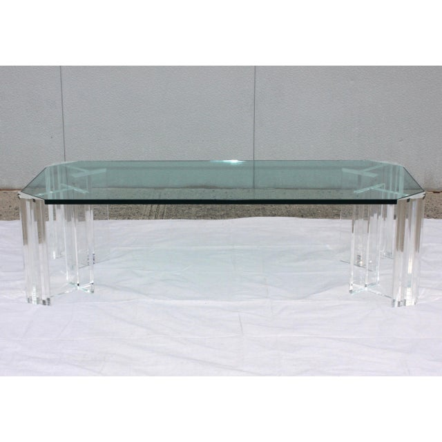 Mid-Century Modern 1970s Modern Lucite Coffee Table For Sale - Image 3 of 9
