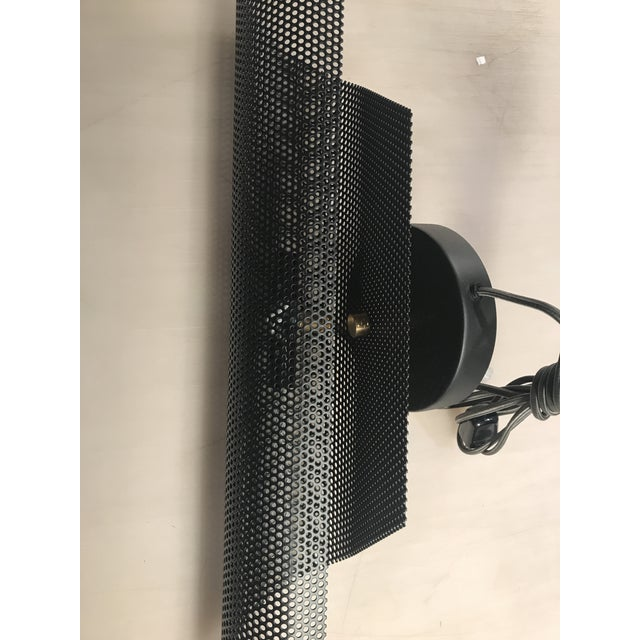 Modern Black Folded Mesh Sconces - a Pair For Sale - Image 4 of 7