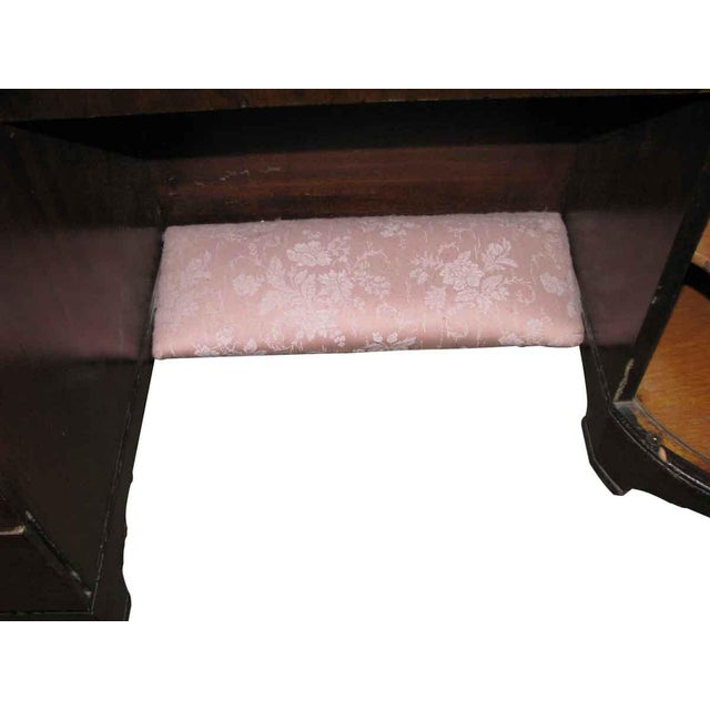 1950s Deco Vanity & Pink Stool - a Pair For Sale - Image 6 of 10