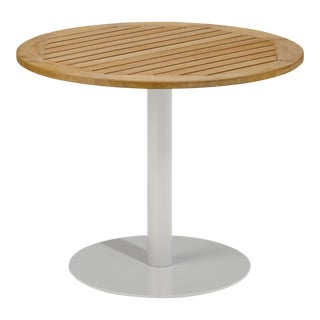 "36"" Round Outdoor Bistro Table, Natural For Sale"