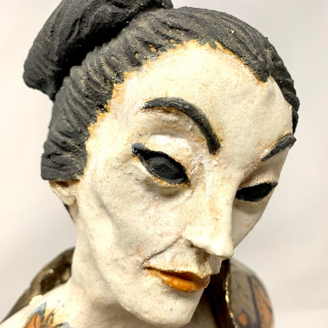 Late 20th Century Theo Samuels Japanese Woman Sculpture For Sale - Image 10 of 13