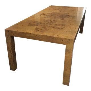 Milo Baughman Burl Maple Parsons Table