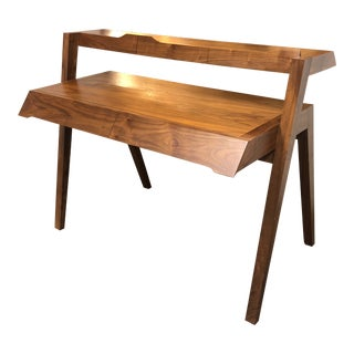 Nathan Yong Walnut Primary Desk For Sale