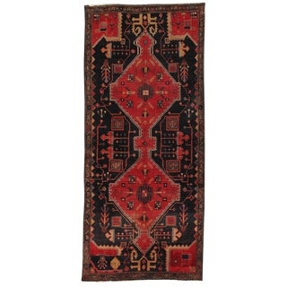 "Vintage Wool Area Rug- 3' 6"" x 7'10"" For Sale"
