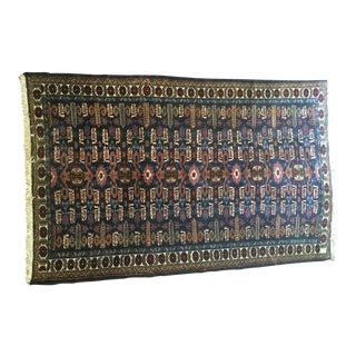 "Antique Persian Wool Rug - 3'11"" x 7'4"""