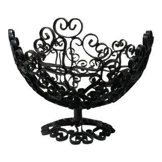 Mid 20th Century Spanish Iron Filigree Bowl For Sale